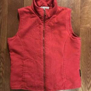 Women's vest red size small